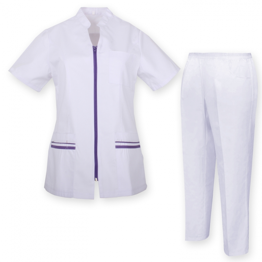 WORK CLOTHES LADY SHORT SLEEVES UNIFORMS Unisex Scrub Set – Medical Uniform with Top and Pants - Ref.7028