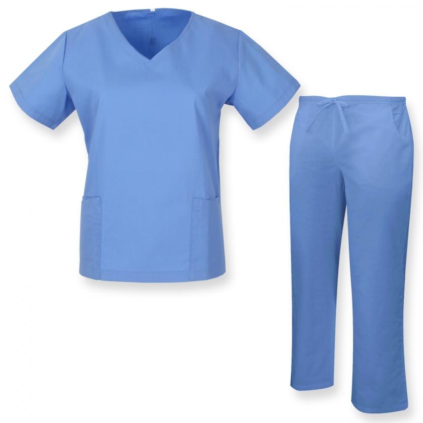 UNIFORMS Unisex Scrub Set – Medical Uniform with Scrub Top and Pants - Ref.Q8188