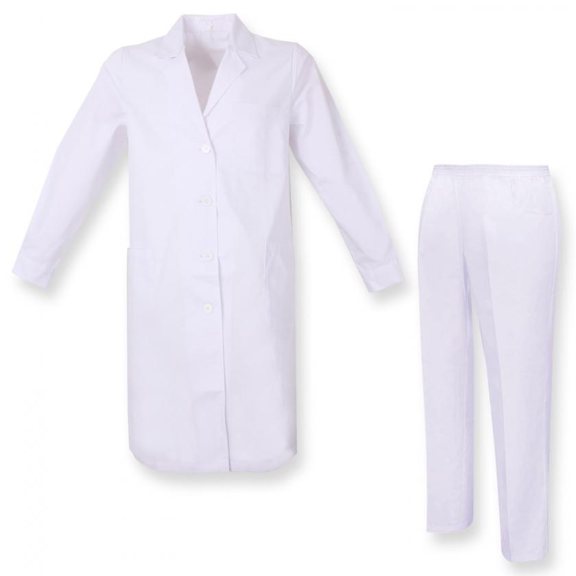 Uniforme Medica con Camice e Pantaloni - Uniformi Mediche Camice Uniformi sanitarie OSPITALITÁ - Ref.81618 MZ-8161-8312 MISEM...
