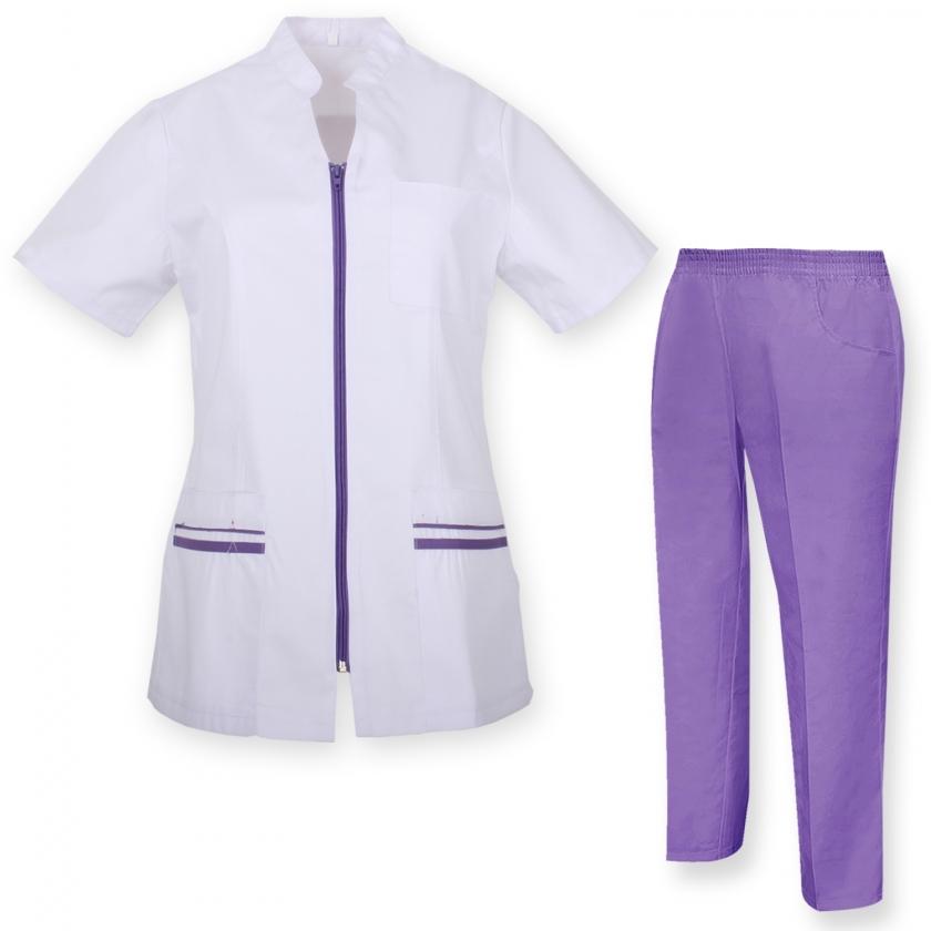 Unisex-Schrubb-Set - Medizinische Uniform mit Oberteil und Hose - Ref.70288 MZ-7021-81318 MISEMIYA Sanidad,Estética y Limpieza