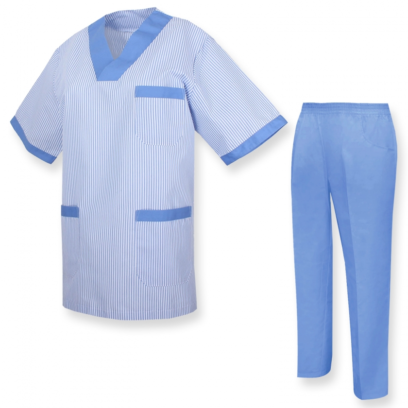 UNIFORMS Unisex Scrub Set – Medical Uniform with Scrub Top and Pants
