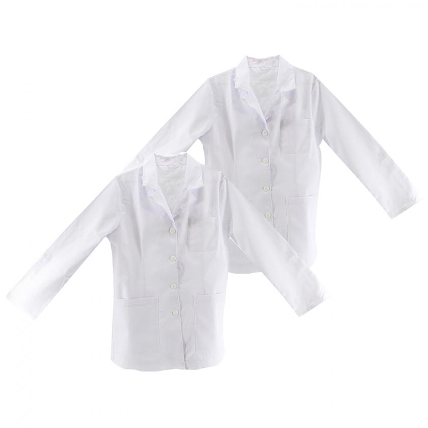 Pack*2 Pcs -  Batas Blanco Batas Laboratorios Ropa laboral Roa de Trabajo Ref-Q8105