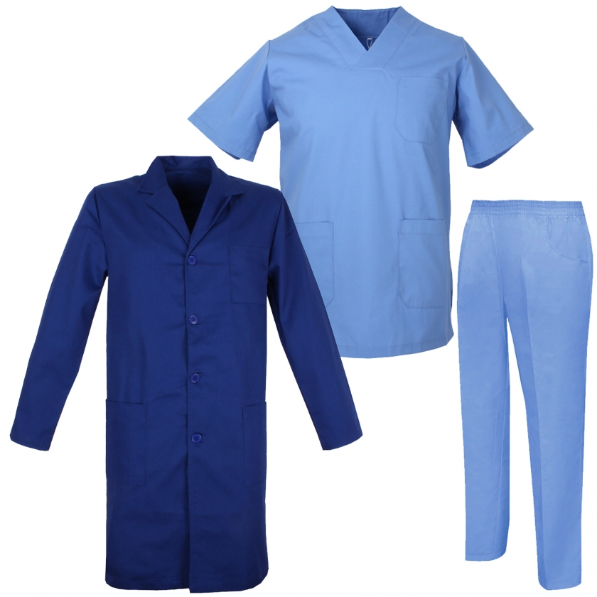 Ensemble Uniformes Unisexe Blouse - Uniforme Médical avec Haut et Pantalon   - Ref.817-8312-816