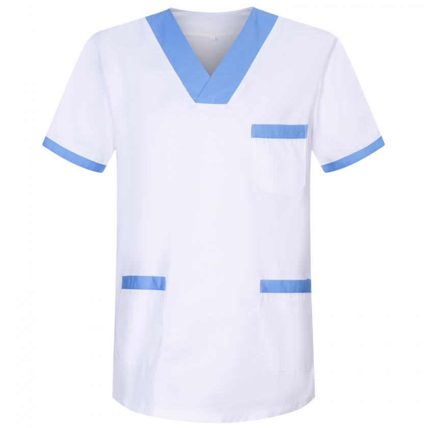 WORK CLOTHES LADY SHORT SLEEVES UNIFORM CLINIC HOSPITAL CLEANING VETERINARY SANITATION HOSTELRY Ref: 8171