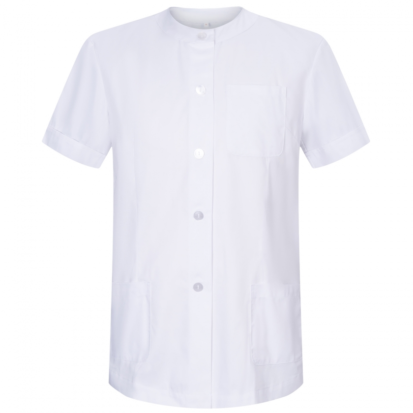 WORK CLOTHES LADY ROUND COLLAR WITH BUTTON UNIFORM CLINIC HOSPITAL CLEANING VETERINARY SANITATION HOSTELRY - Ref.831
