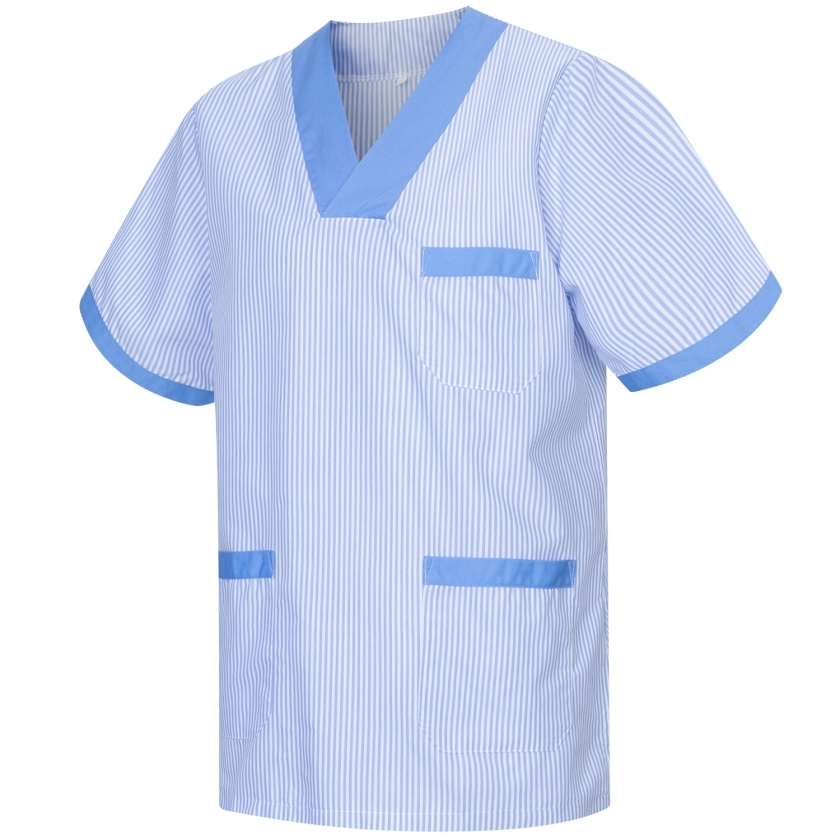 WORK CLOTHES SHORT SLEEVES UNIFORM CLINIC HOSPITAL CLEANING VETERINARY SANITATION HOSTELRY - Ref: T817