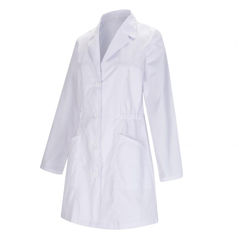 WORK LAB COAT LAPEL COLLAR LONG SLEEVES UNIFORM CLINIC HOSPITAL CLEANING VETERINARY SANITATION HOSTERLY Ref-8163