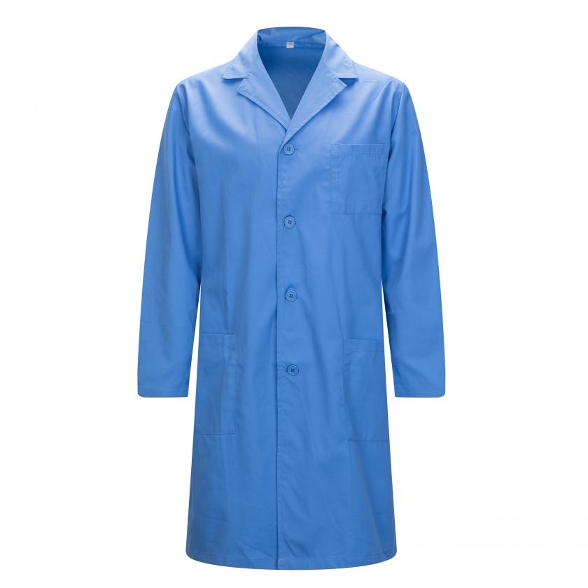 WORK LAB COAT MAN LAPEL COLLAR LONG SLEEVES UNIFORM CLINIC HOSPITAL CLEANING VETERINARY SANITATION HOSTERLY Ref: 816